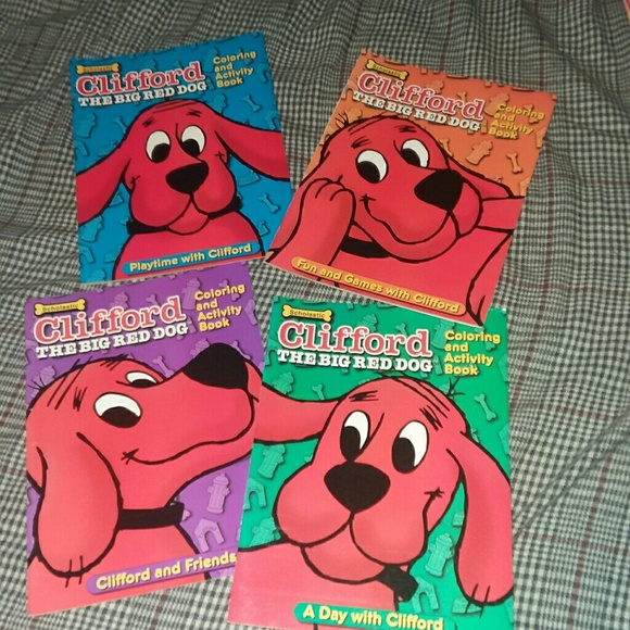 Scholastic Other Set Of 4 Clifford Coloring Activity Books Poshmark